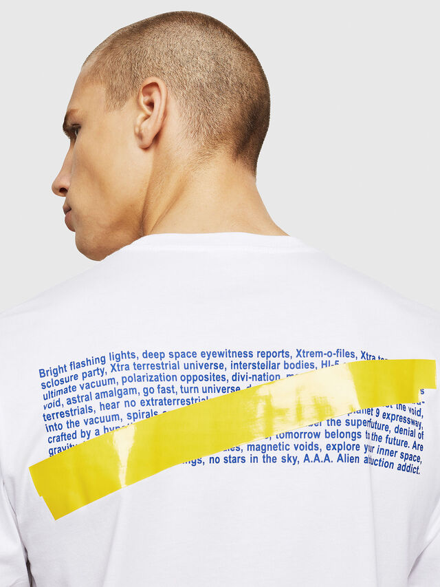 Diesel - T-JUST-A2, Bianco - T-Shirts - Image 3