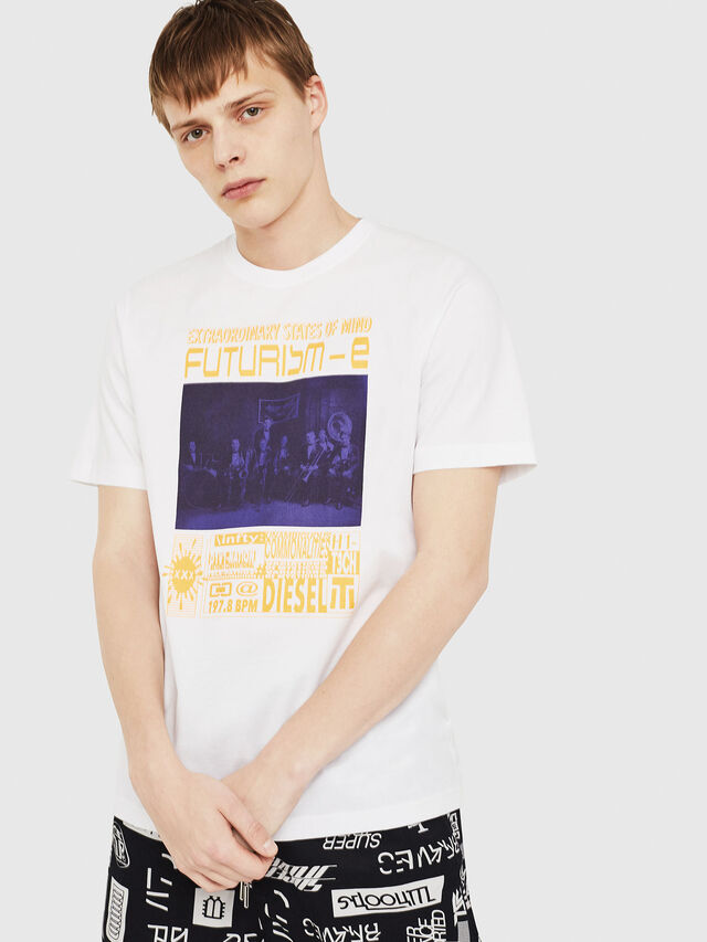 Diesel - T-JUST-Y16, Bianco - T-Shirts - Image 1