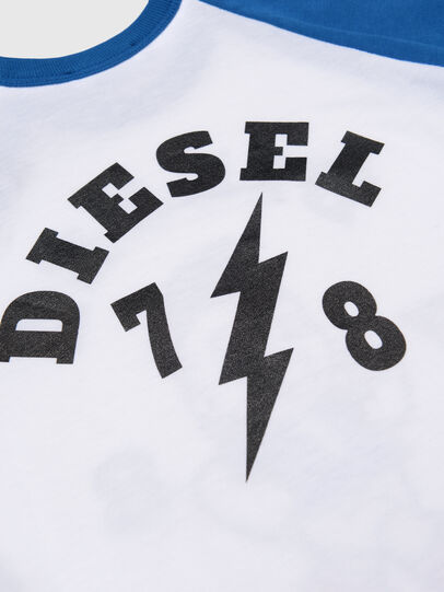 Diesel - TORAB, Bianco/Blu - T-shirts e Tops - Image 3