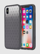 MOHICAN HEAD DOTS BLACK IPHONE X CASE, Nero/Grigio - Cover