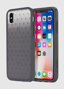MOHICAN HEAD DOTS BLACK IPHONE X CASE, Nero/Grigio - Cover