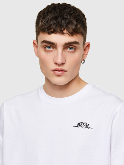 Diesel - T-JUST-E15, Bianco - T-Shirts - Image 3