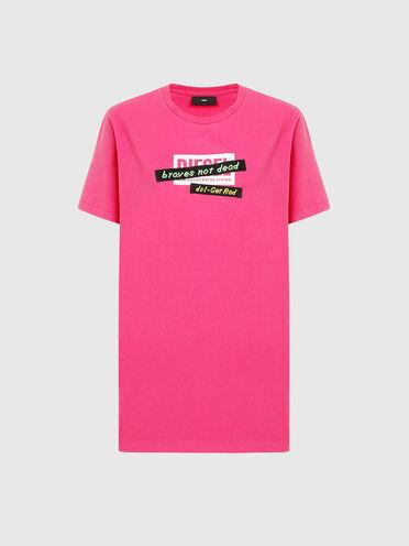 T-shirt con tape ricamati