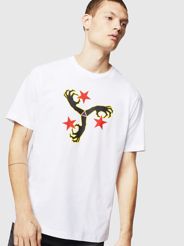 Diesel - T-JUST-A12, Bianco - T-Shirts - Image 1