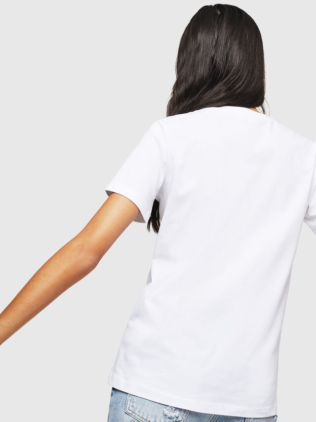 Diesel - T-SILY-WX, Bianco - T-Shirts - Image 2