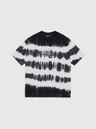 Diesel - TJUSTA38 OVER, Nero/Bianco - T-shirts e Tops - Image 1