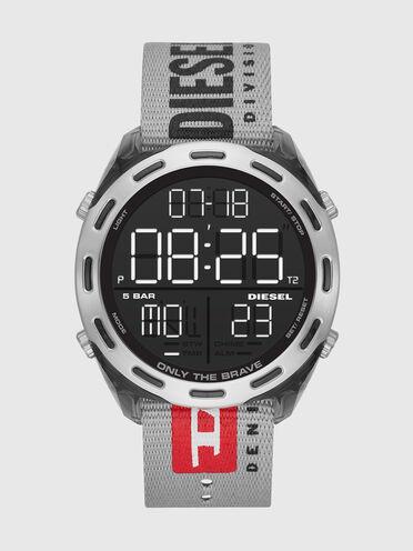 Crusher orologio digitale con cinturino grigio in nylon