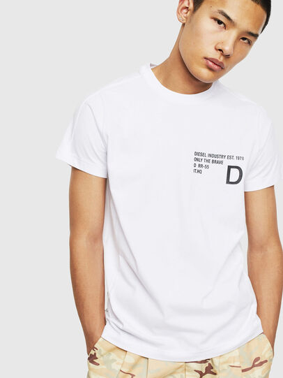 Diesel - T-HOVER, Bianco - T-Shirts - Image 1
