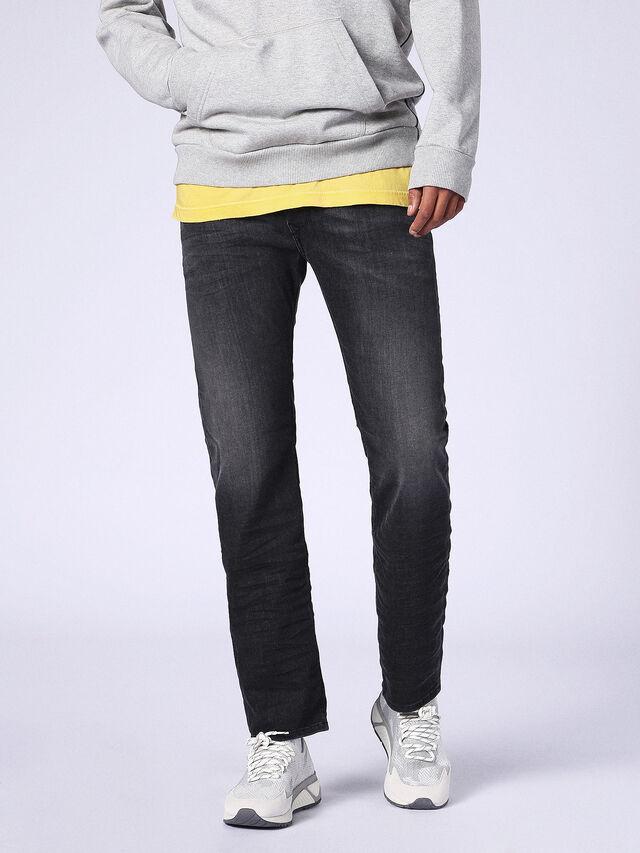 WAYKEE 0687J, Nero Jeans