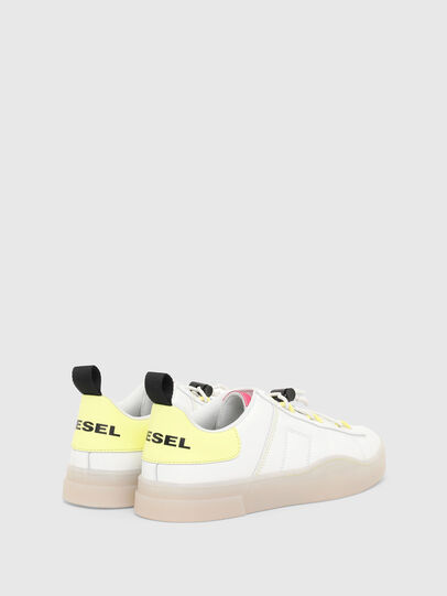 Diesel - S-CLEVER SO C, Bianco/Giallo - Sneakers - Image 3
