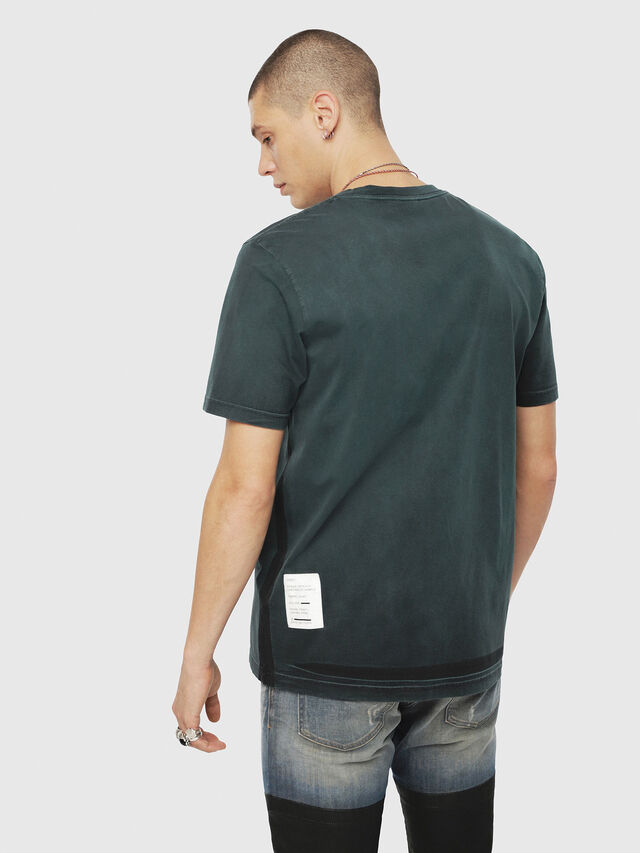 Diesel - T-JUST-YS, Verde Scuro - T-Shirts - Image 2