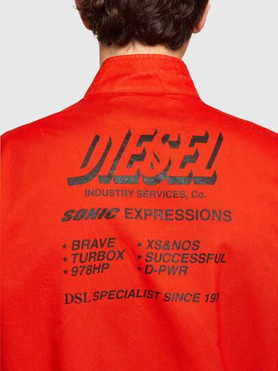 Diesel - J-HALLS-PRINT, Arancione - Giacche - Image 4