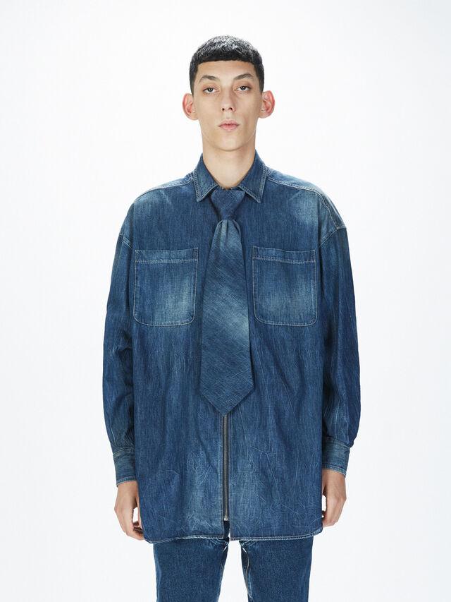 Diesel - SOTS01, Blu Jeans - Camicie - Image 3