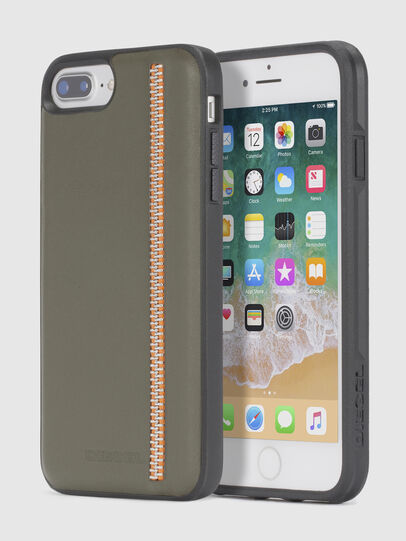 Diesel - ZIP OLIVE LEATHER IPHONE 8/7/6s/6 CASE,  - Cover - Image 1