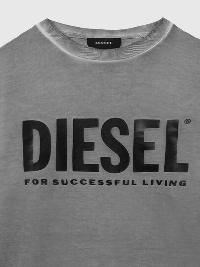 Diesel - S-GIR-DIVISION-LOGO, Grigio scuro - Felpe - Image 3