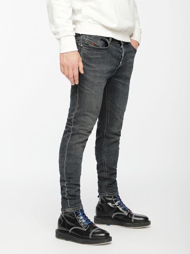 Diesel - Sleenker 084VQ, Nero/Grigio scuro - Jeans - Image 3