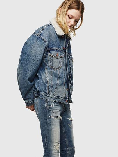 Diesel - Fayza JoggJeans 0890A, Blu Chiaro - Jeans - Image 4