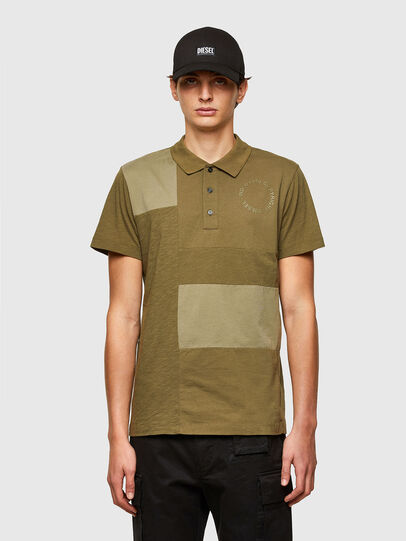 Diesel - T-POLWORK, Verde Militare - Polo - Image 1