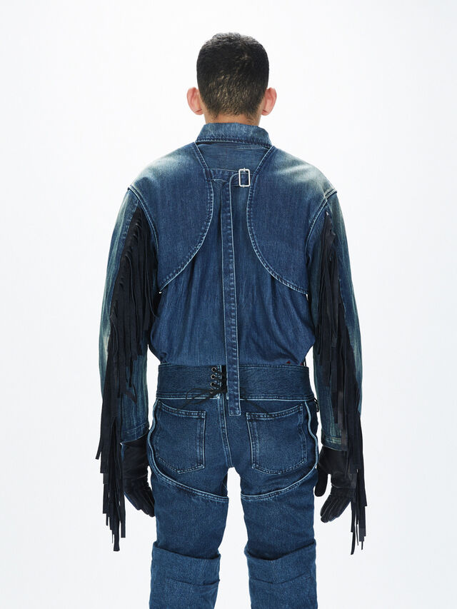 Diesel - SOGLV01-KIT, Blu Jeans - Guanti - Image 4