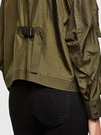 Diesel - C-CORAL, Verde Militare - Camicie - Image 4
