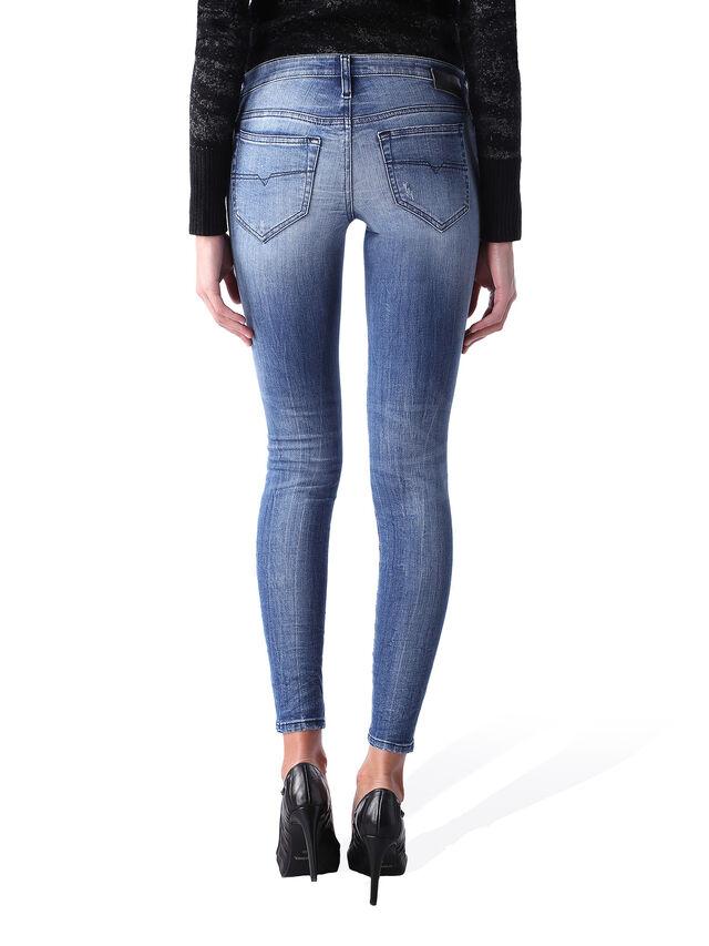Diesel - Skinzee Low Zip 0847U, Blu medio - Jeans - Image 4
