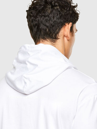 Diesel - T-FONTAL-LS-HOOD, Bianco - T-Shirts - Image 4