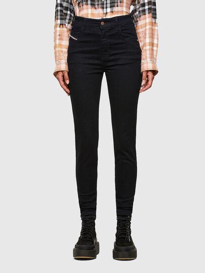 Diesel - Slandy High 009CW, Blu Scuro - Jeans - Image 1
