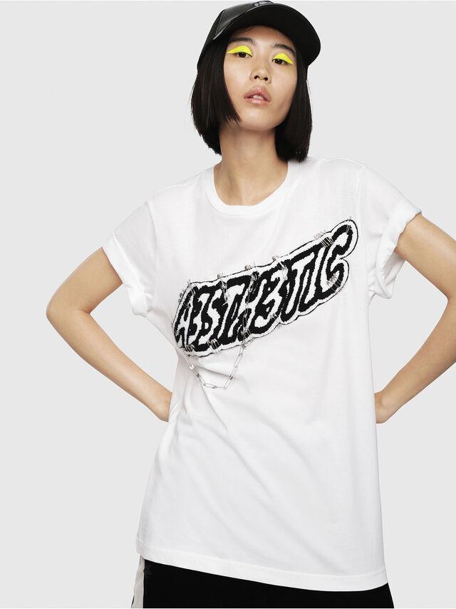 Diesel - T-DARIA-G, Bianco - T-Shirts - Image 1