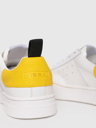 Diesel - S-CLEVER LOW W, Bianco/Giallo - Sneakers - Image 4