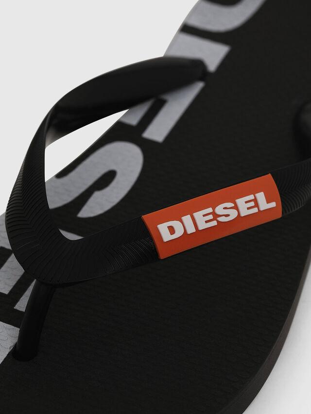 Diesel - SA-BRIIAN W, Nero/Bianco - Ciabatte - Image 3