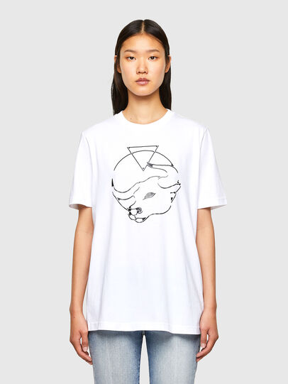 Diesel - CL-T-JUST-O, Bianco - T-Shirts - Image 2