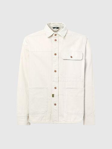 Camicia patchwork con effetto sbiadito dal sole