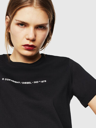 Diesel - T-SILY-COPY, Nero - T-Shirts - Image 3