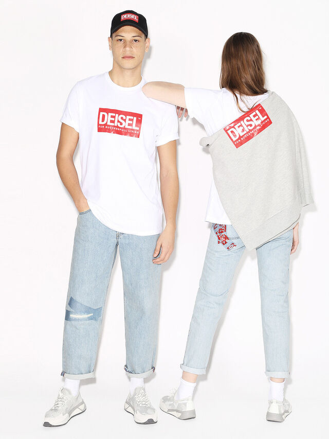 Diesel - DEIS-JUST, Bianco - T-Shirts - Image 4