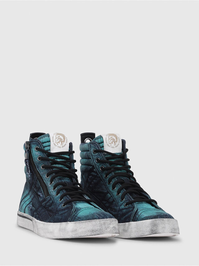Diesel - D-VELOWS MID LACE, Turchese - Sneakers - Image 2