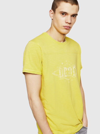 Diesel - T-DIEGO-CUT-A, Giallo - T-Shirts - Image 3