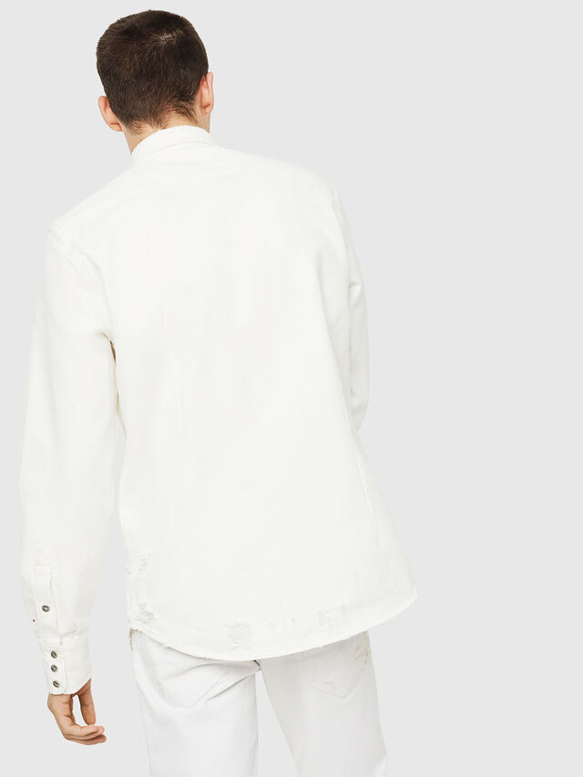 Diesel - D-LEO, Bianco - Camicie in Denim - Image 2