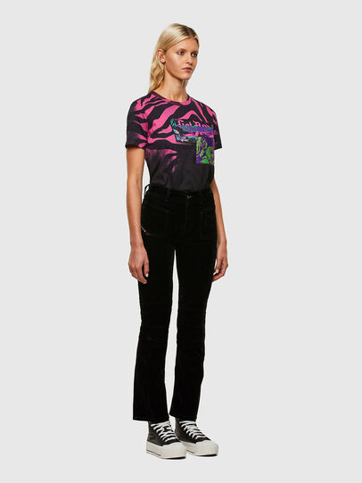 Diesel - T-SILY-R3, Nero/Rosa - T-Shirts - Image 5