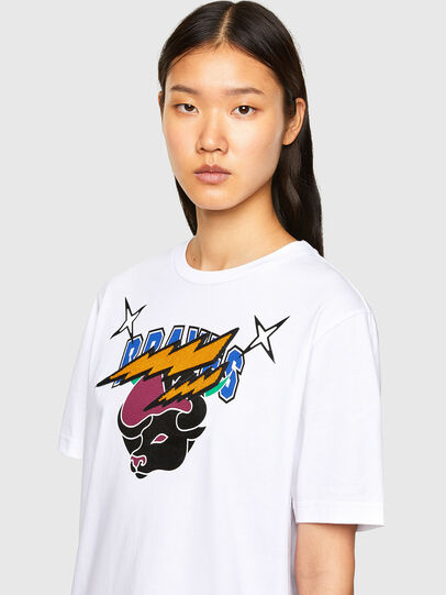 Diesel - CL-T-JUST-O1, Bianco - T-Shirts - Image 6