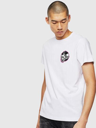 Diesel - T-DIEGO-J10, Bianco - T-Shirts - Image 1