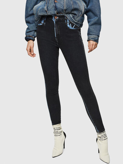 Diesel - Slandy High 0094B, Blu Scuro - Jeans - Image 1