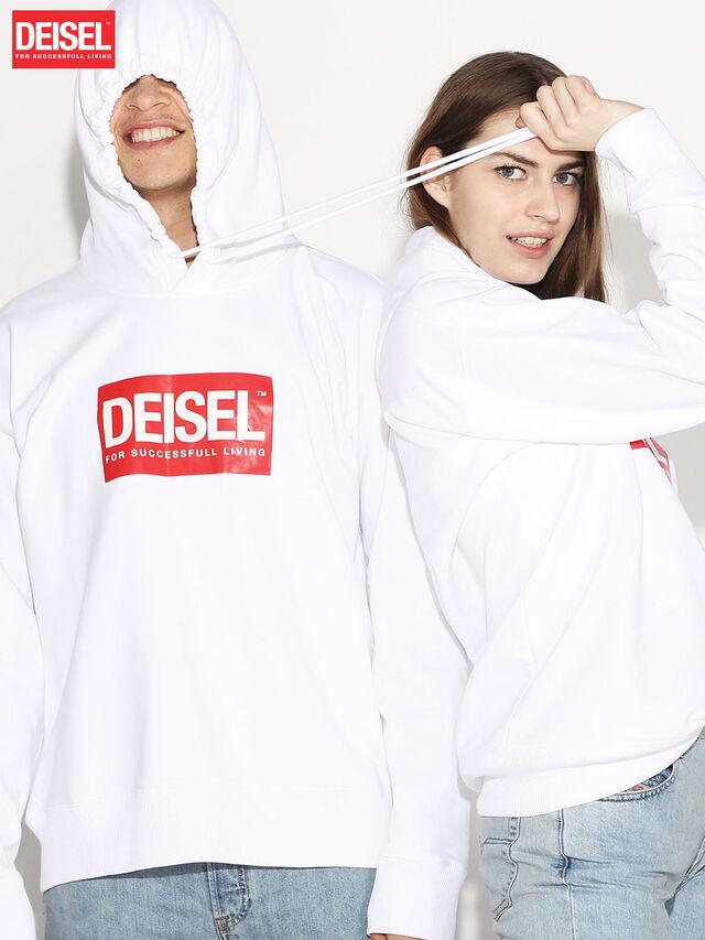 Diesel - DEIS-SHOOD, Bianco - Felpe - Image 1