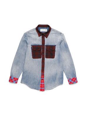 D-DEEPCHECK-A, Blu/Rosso - Camicie in Denim