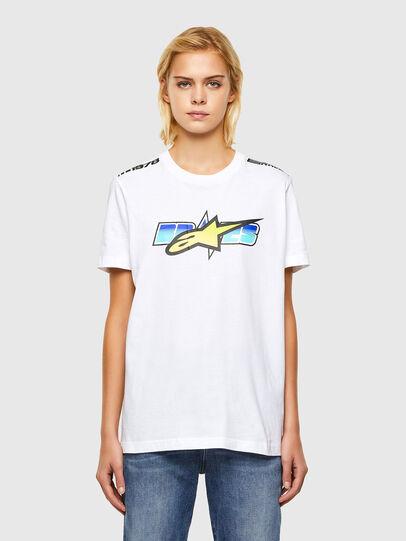 Diesel - ASTARS-T-DIEGOS-B-FL, Bianco - T-Shirts - Image 1