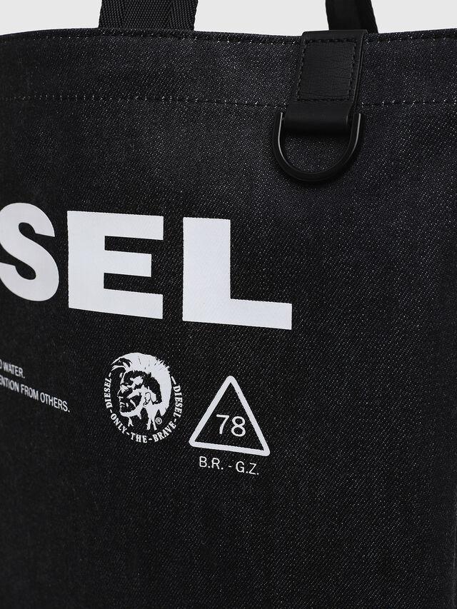 Diesel - F-THISBAG SHOPPER NS, Blu Scuro - Shopper e Borse a Spalla - Image 3