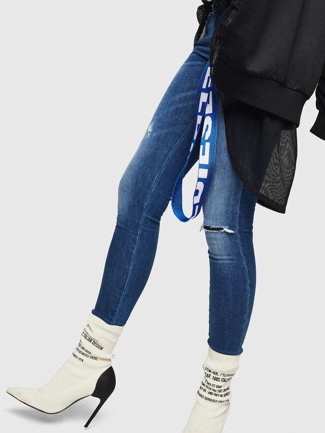 Diesel - Slandy Low 089AI, Blu medio - Jeans - Image 5