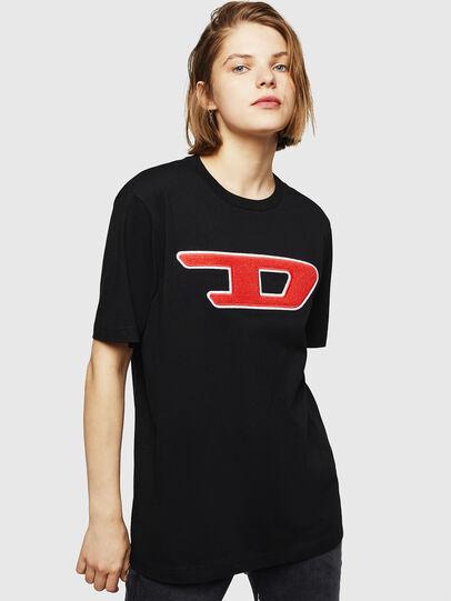 Diesel - T-JUST-DIVISION-D-FL, Nero - T-Shirts - Image 1