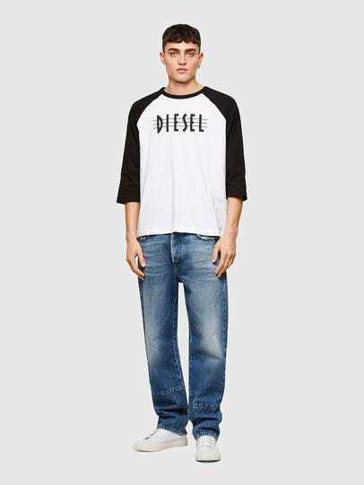 Diesel - T-BEISBOL, Bianco - T-Shirts - Image 4