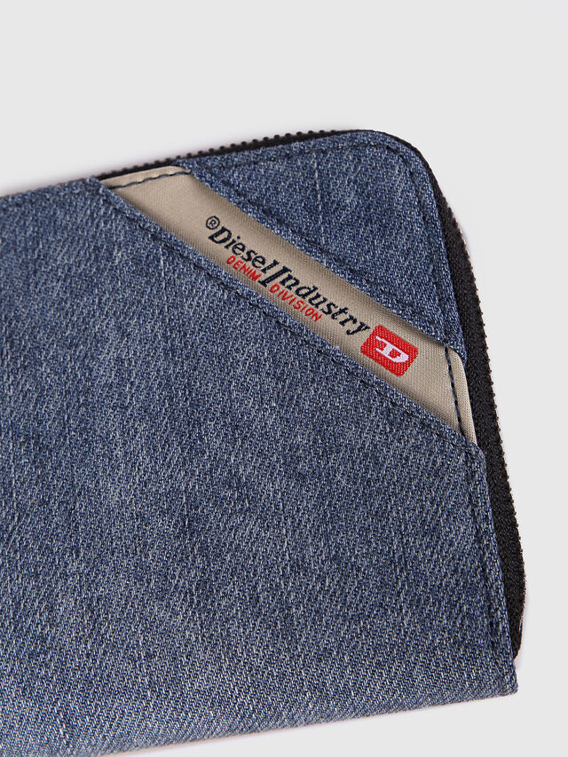 Diesel - 24 ZIP, Blu Jeans - Portafogli Con Zip - Image 3