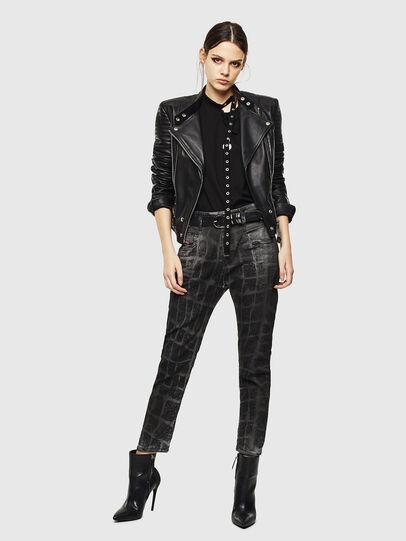 Diesel - Fayza JoggJeans 0094M, Nero/Grigio scuro - Jeans - Image 7